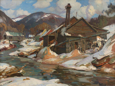 Aldro Thompson Hibbard, 'Sawmill in Newfane, Vermont', 20th Century