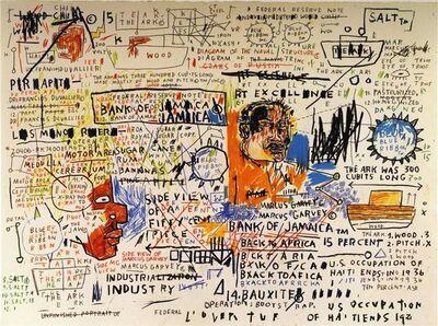 Jean-Michel Basquiat, '50 Cent Piece', 2019