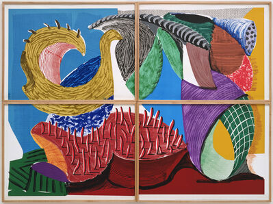 David Hockney, 'Four Part Splinge', 1993