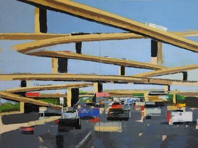 Ryan M. Reynolds, 'Freeway No. 13 ( diptych) / oil on panel', 2018