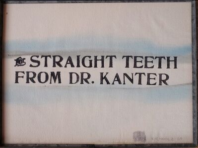 Edward Kienholz, 'For Straight Teeth from Dr Kanter', 1969
