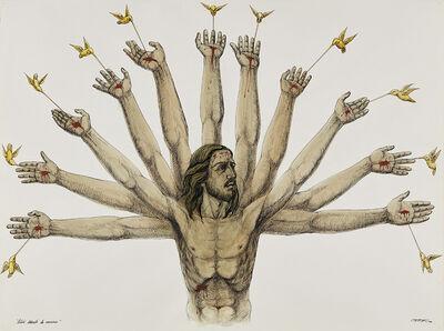 Esterio Segura Mora, 'Colibrí libando la memoria (Hummingbird Sucking Memory)', 1996
