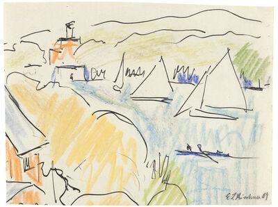 Ernst Ludwig Kirchner, 'Segelschiffe auf dem Müggelsee', 1910
