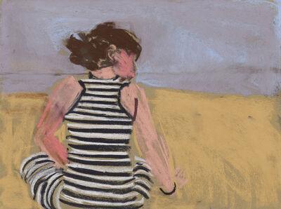 Chantal Joffe, 'Esme in a Striped Dress', 2017