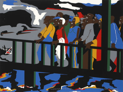 Jacob Lawrence, 'Confrontation at the Bridge (Selma, Alabama)', 1975