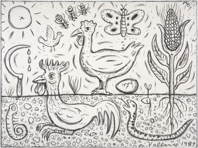 Jeffrey Vallance, 'Corn Sacriface (From the Series Poultry Mythology)', 1989