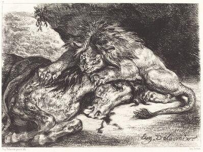 Eugène Delacroix, 'Lion Devorant un Cheval'