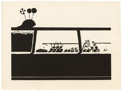 Wayne Thiebaud, 'Candy Counter, State I', 1970