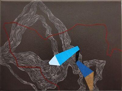 Zsófi Barabás, 'Blue direction line', 2015