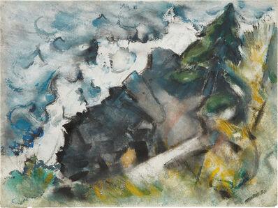 John Marin (1870-1953), 'Wave and Rock', 1934