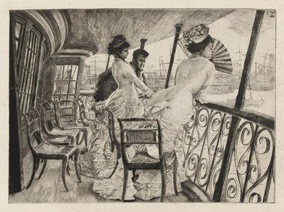 James Jacques-Joseph Tissot, 'The Gallery of H.M.S. Calcutta (Souvenir of a Ball on Shipboard)', 1876