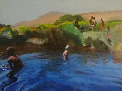 Clare Menck, 'Laidback lagoon encounter', 2020