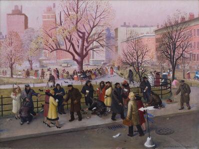 Blendon Reed Campbell, 'Washington Square, New York', 1936