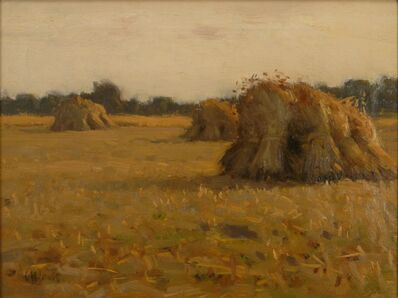 Charles Harold Davis, 'Haystacks, France', ca. 1885