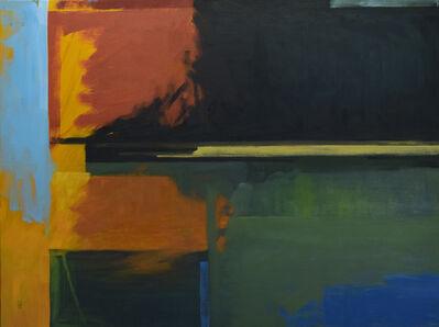 Harold Joiner, 'Montrose #1 - abstract, blue, green, orange, gold, earth tones, dark', 2019