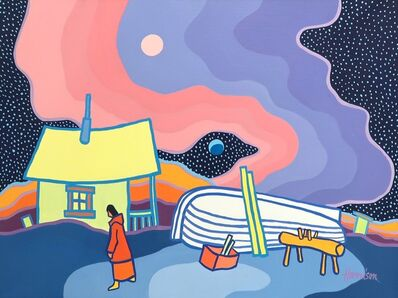 Ted Harrison, 'Evening Boat', 1985