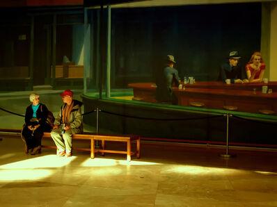 Yolanda Andrade, 'Edward Hopper en el museo, Washington DC', 2007