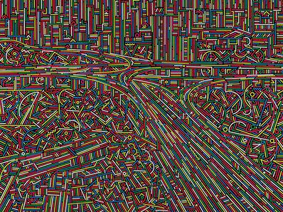 Lu Xinjian 陆新建, 'City Stream No.6', 2014