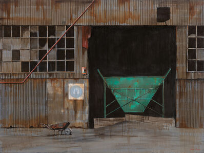 donna mckellar, 'wheelbarrow and warehouse', 2015