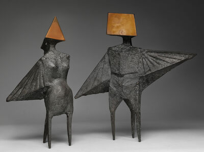 Lynn Chadwick, 'Maquette IV Two Winged Figures', 1973