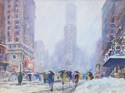 John Whorf, 'Blizzard Times Square, No. 2', ca. 1940s