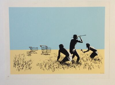 Banksy, 'Trolley Hunters (Coloured) ', 2007