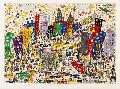 James Rizzi, 'East Side, West Side, Uptown, and Down', 1978