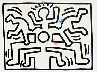 Keith Haring, 'Vintage 1980s Keith Haring gallery announcement ', 1988