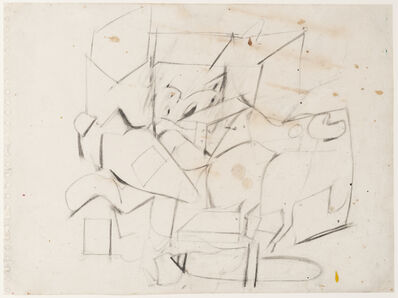 Willem de Kooning, 'Abstraction (Study for Mailbox)', 1945