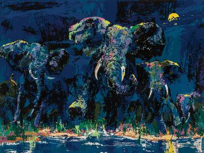 LeRoy Neiman, 'Elephants Nocturne', 1984