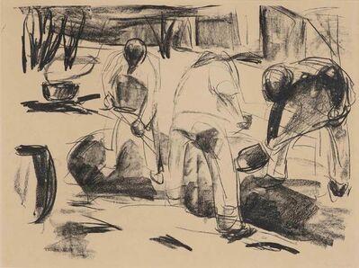 Edvard Munch, 'Grabende Arbeiter (Street Workmen) (Schiefler 484)', 1920