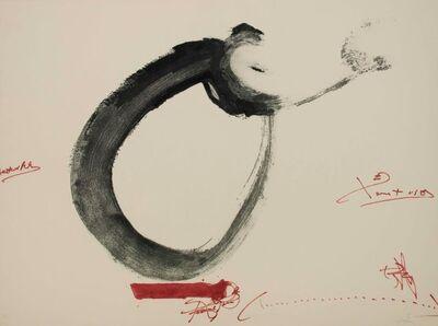 Antoni Tàpies, 'Lletra O', 1976
