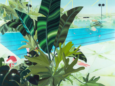 Yang-Tsung Fan, 'Glimpse of the Pool Between the Leaves', 2016