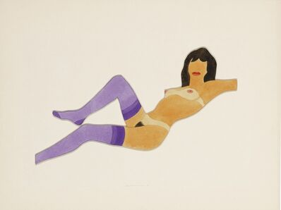 Tom Wesselmann, 'Study for Reclining Stockinged Nude', 1981