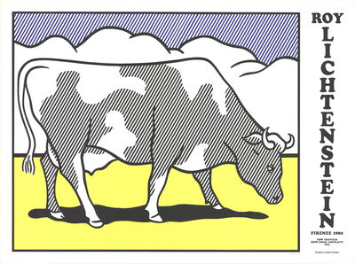 Roy Lichtenstein, 'Cow Going Abstract Triptych', 1982