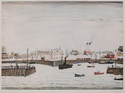 Laurence Stephen Lowry, 'The Harbour', 1972
