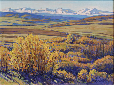 William Duma, 'Early Snow in the Mtns (14-21)', 2021