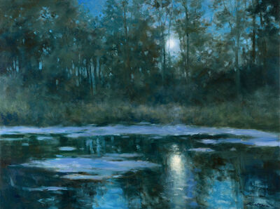 Thomas McNickle, 'BLUE MOON ON THE SCOUT POND', 2021