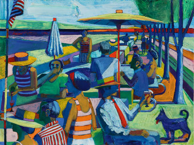 Roland Petersen, 'Study for Picnic, Sixteen Figures'