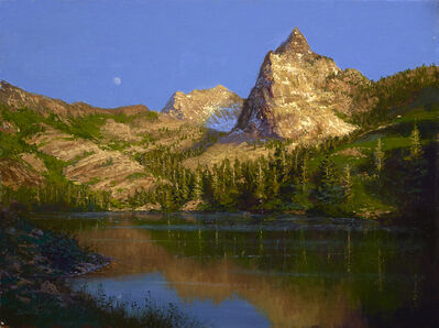 Ken Salaz, 'Moonrise over Sundial Peak, Utah, 2019', 2019