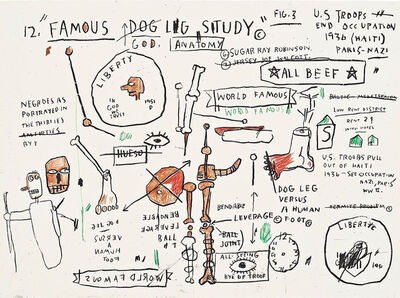 Jean-Michel Basquiat, 'Dog Leg Study', 1982-2019