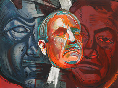 Ernst Neizvestny, 'Triple Self-Portrait', ca. 1979