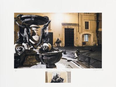 Ernest Pignon-Ernest, 'Pasolini. Si je reviens, Piazza Mattei', 2015