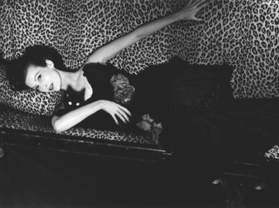 Louise Dahl-Wolfe, 'Mary Jane Russell on Leopard Sofa, Paris', 1951