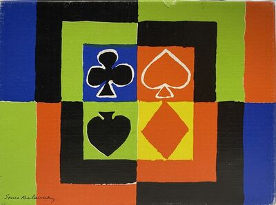 Sonia Delaunay, 'Playing Cards', 1980
