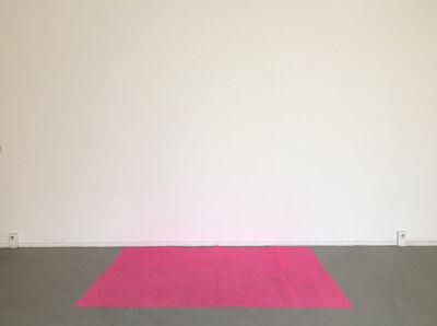 Elena Bajo, 'Red cloth floor to wall', 2016