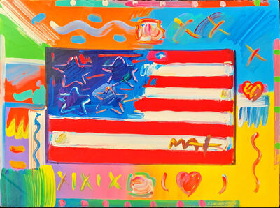 Peter Max, 'Flag with Heart', Before 2015