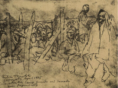 Feliks Topolski, 'Camp Guards and Inmates after Liberation', 1945