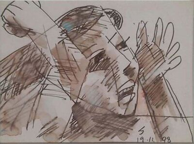 """Somnath Hore, 'Untitled, Ink on Paper by Modern Artist """"In Stock""""', 1998"""