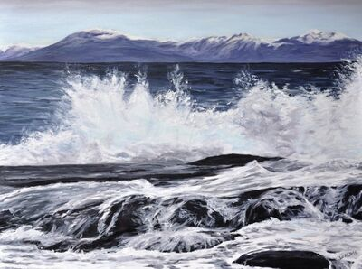 Jody Waldie, 'Georgia Strait with a Splash', 2021